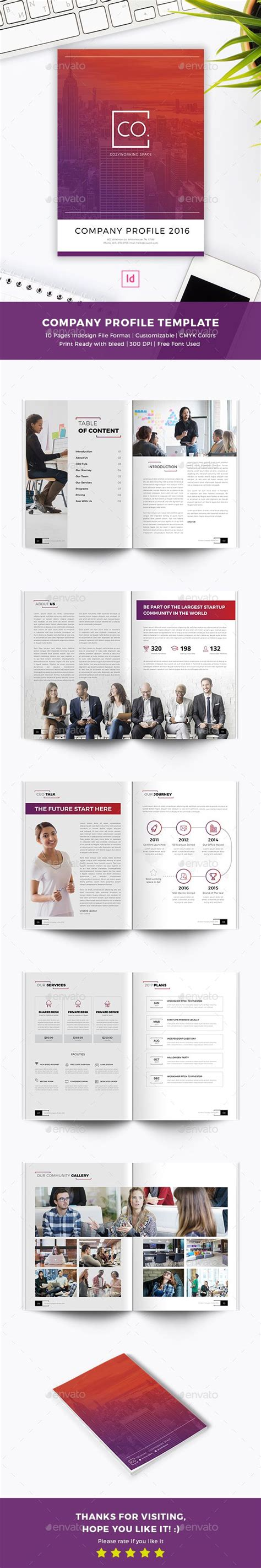 cowork company profile indesign template company profile