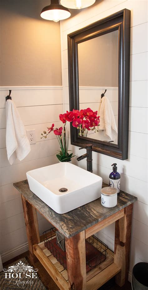 Handmade Bath - white shiplap bathroom diy vanity diy projects