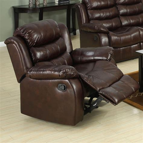 venetian recliner venetian worldwide berkshire dark brown leather like