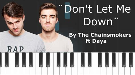 tutorial dance don t let me down the chainsmokers quot don t let me down quot ft daya piano
