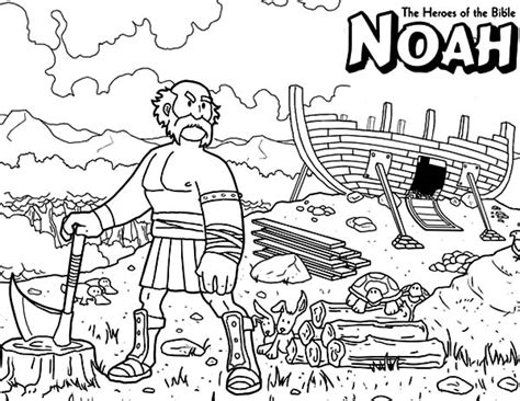 free coloring pages bible heroes noah the bible heroes coloring page netart