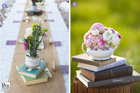 Design Inspiration: Books for Decor   Exquisite Weddings