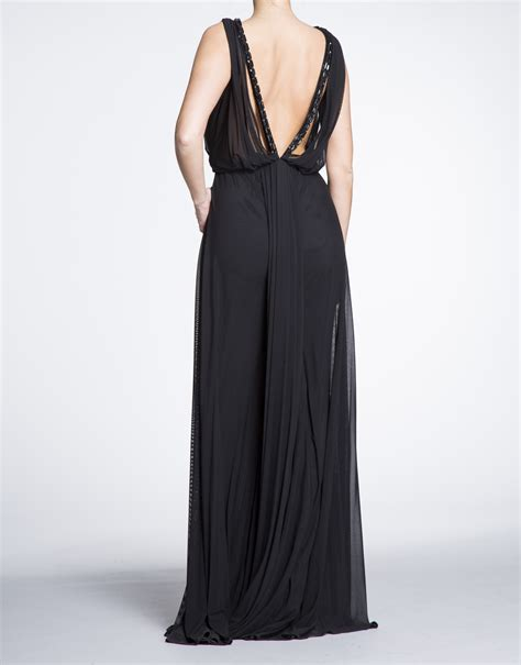 long draped dress roberto verino