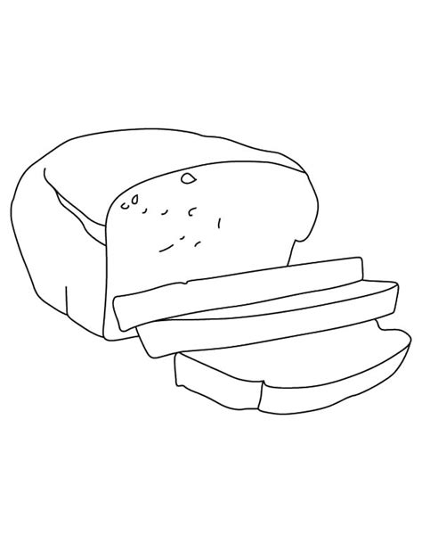 bread bread slice outline coloring pages bread slice