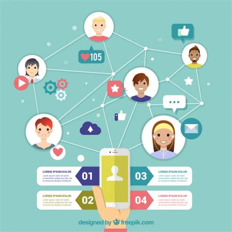 Home Design Social Network by Nice Infographic Social Networking In Flat Design Vector