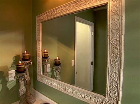 how to build a frame around a bathroom mirror large and