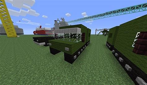 minecraft army truck vehicles minecraft project
