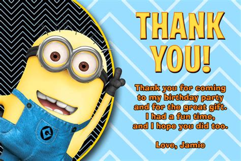 despicable me invitations minions invites