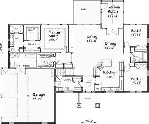 home plans with safe rooms best 25 one story houses ideas on pinterest house plans