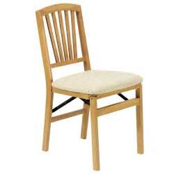 Oak Window Seat - fan back folding chair pair