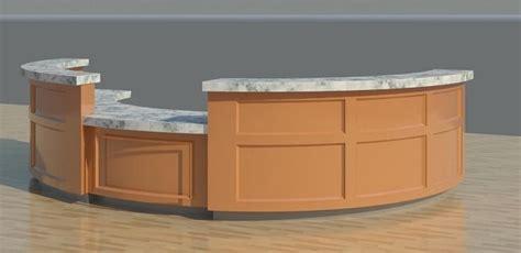 Revit Reception Desk 3d Model Reception Desk