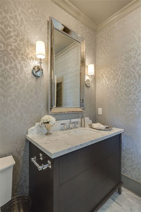 Classic New Westminster Custom Home by Clay Construction Wood Wallpaper Bedroom