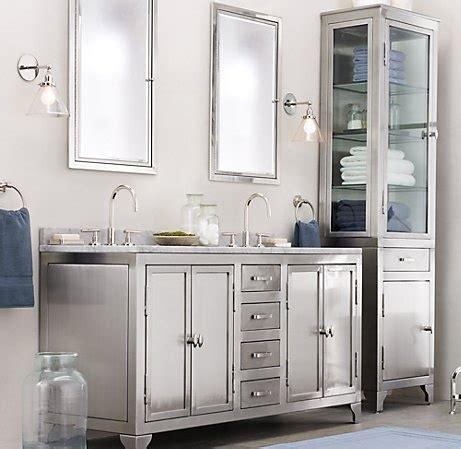 metal vanities for bathrooms metal painted bathroom cabinetry trend spotting heavy