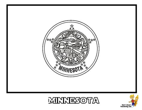 Minnesota State Flag Coloring Page gallant state flags coloring idaho montana free flags coloring for