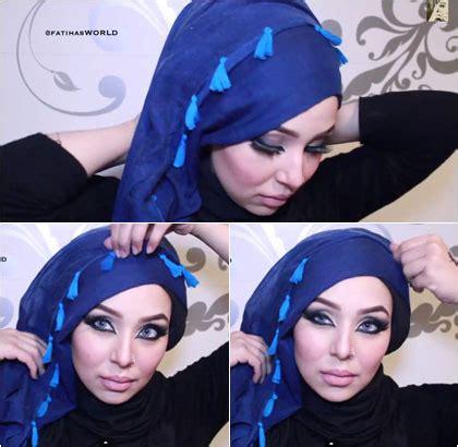 tutorial shawl unik hijab style tutorial hijab unik dengan scarf rumbai
