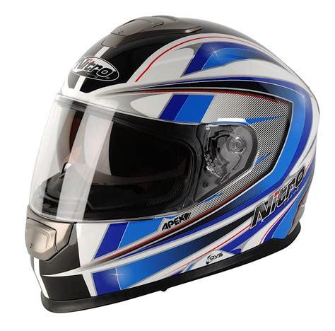 Motorradhelm Aufkleber Suzuki by Nitro Apex 1100 Dvs Motorrad Helm Motorradhelm Weiss Blau