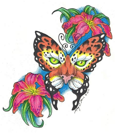 leopard butterfly colored by blvqwulph on deviantart