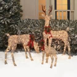 time decor set of 3 woodland vine deer