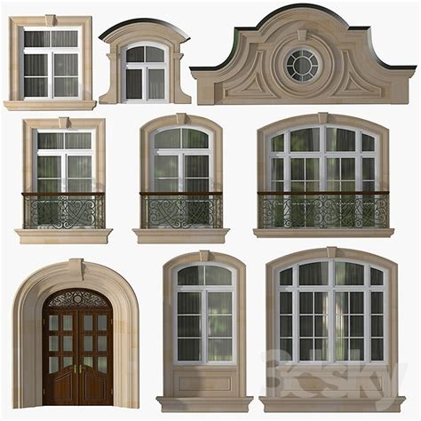 Classic Windows And Doors by 3d Models Windows Windows And Doors In The Style Of