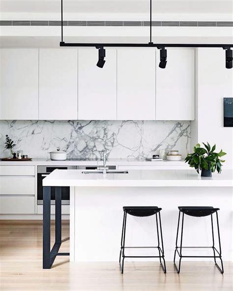 backsplash for black and white kitchen 14 white marble kitchen backsplash ideas you ll