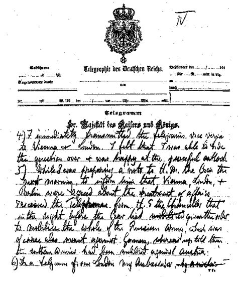Kaiser Cancellation Letter Kaiser Wilhelm Letter To Woodrow Wilson Page 4