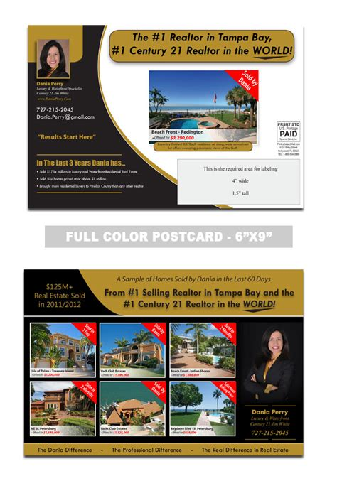 custimazable templates for post cards real estate realtor postcard sles print label and mail