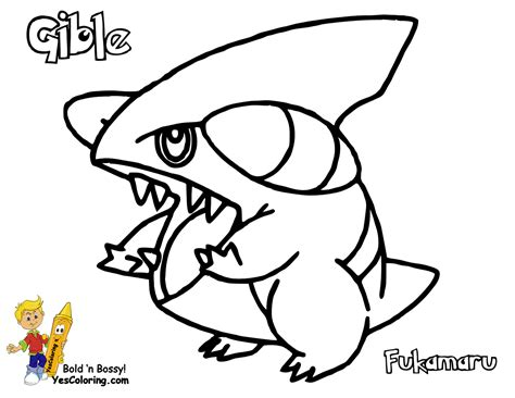 pokemon coloring pages gible thumping pokemon printables shellos lumineon all