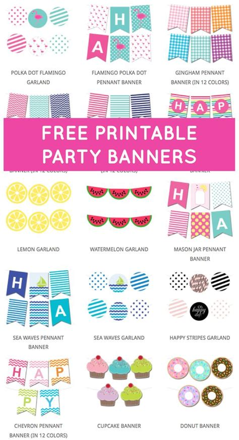printable free banner maker free printable party banners from chicfetti free