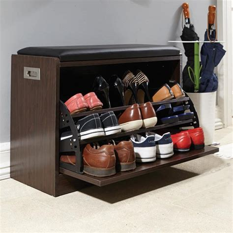 15 best shoe rack ideas images on shoe racks deluxe shoe ottoman bench storage closet wooden entryway