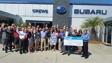 ronald mcdonald house charleston crews subaru donates 38k to ronald mcdonald house of charleston the daniel island news