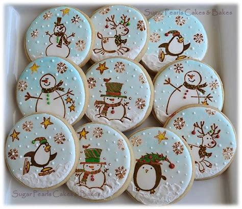 rubber sted and hand painted cookie set cookie making
