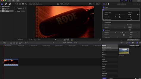 final cut pro letterbox final cut pro x tutorial how to add letterbox youtube