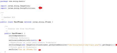 import javax swing imageicon tutoriales java uso b 225 sico de elementos swing con
