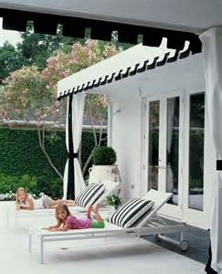 black and white awning architecture and outdoor spaces