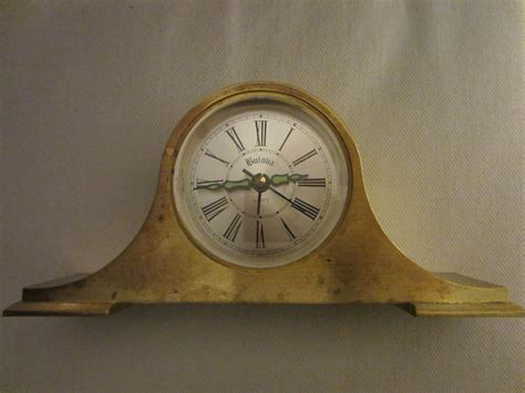Desk Clocks For Sale by Bulova Japan Brass Desk Clock For Sale Antiques
