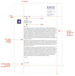 Business Letter Correct Spacing Stationery System Graphic Identities Standards Knox College
