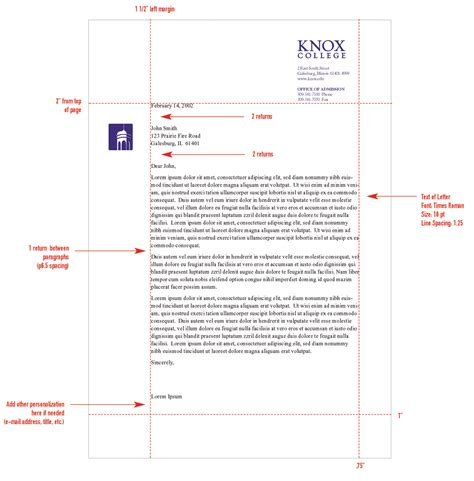 Business Letter Format Margins Spacing Stationery System Graphic Identities Standards College