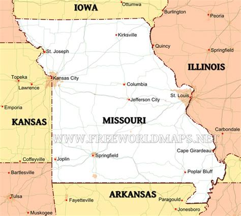 map of us states missouri missouri maps