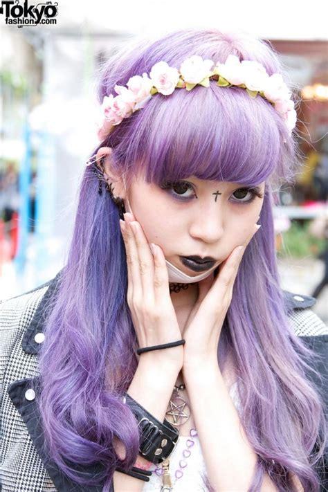 old japanese ladies purple hair kawaii pastel goth purple hair pastel hair pinterest