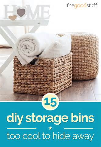 What Is Diy 15 diy storage bins too cool to hide away thegoodstuff