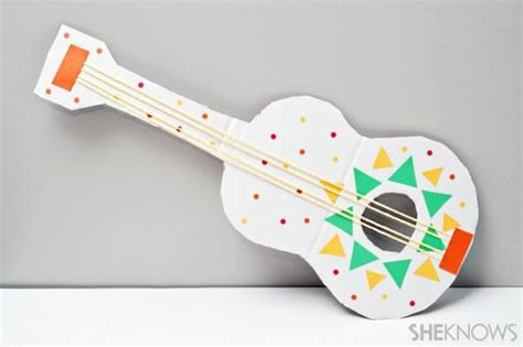 Paper Guitar Craft - 29 fabuloso cinco de mayo activities recipes and