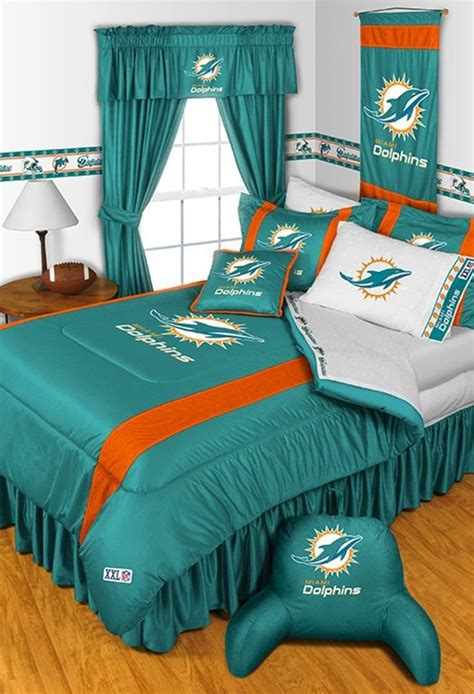 Miami Dolphins Crib Bedding Sets Miami Dolphins Sideline Comforter My Style Miami Dolphins Dolphins And Comforter