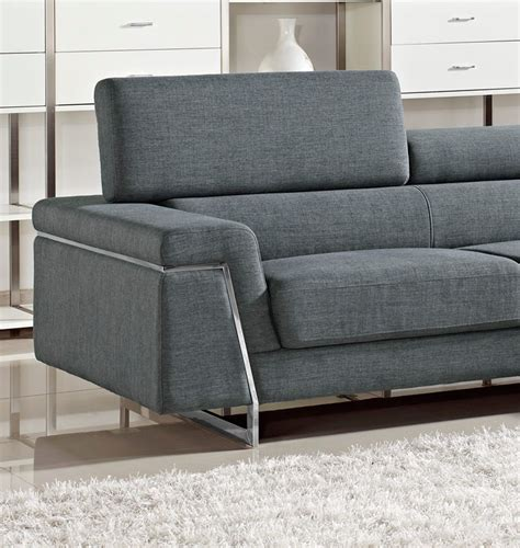 darby modern grey fabric sectional sofa set