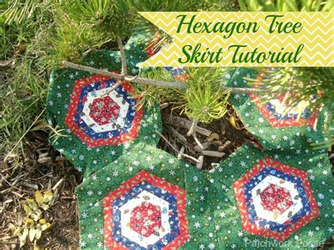 Log Cabin Patchwork Technique - hexagon quilt blocks tree skirt tutorial