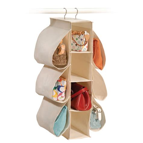 Purse Organizers For Closets by Canvas Hanging Purse Organizer In Purse Organizers