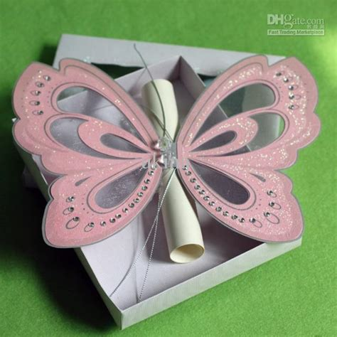 Wedding Paper Divas Return Policy by Creative Handmade Pink Butterfly Wedding