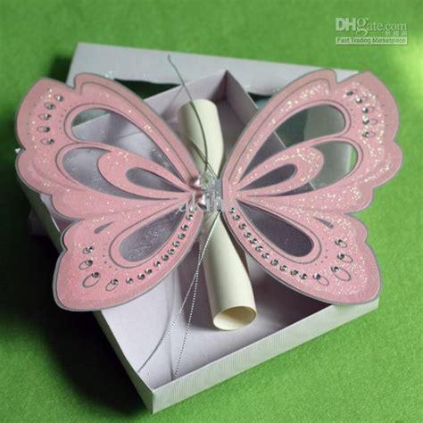 Wedding Paper Divas Rsvp Cards by Creative Handmade Pink Butterfly Wedding