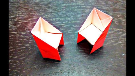 Things Made From Origami Paper - how to make an paper origami chair easy origami things my