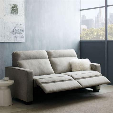 west elm reclining sofa henry 174 power recliner sofa 77 quot west elm