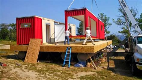 step   shipping container houseboat